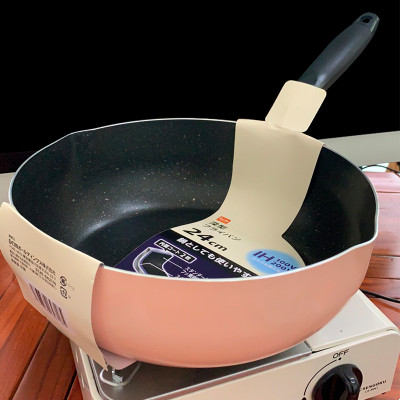 26cm牛油果綠鋁合金炒鍋
