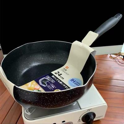 24cm麥飯石紋黑