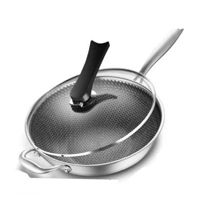 36cm德國316不銹鋼雙面屏蜂窩不粘鍋