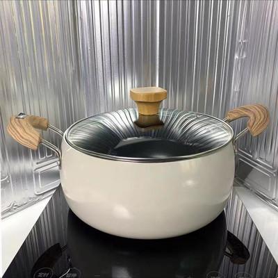 24cm淺咖色雙耳深湯鍋