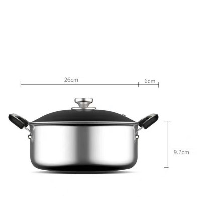 316不銹鋼雙耳湯鍋奶鍋